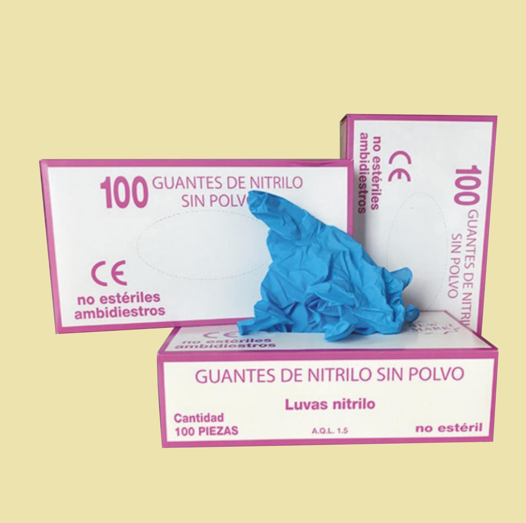 Guantes desechables nitrilo